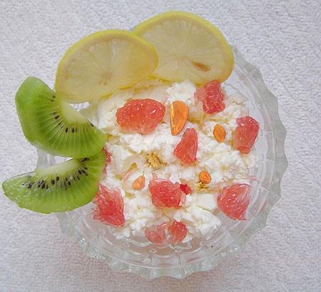 творог с фруктами