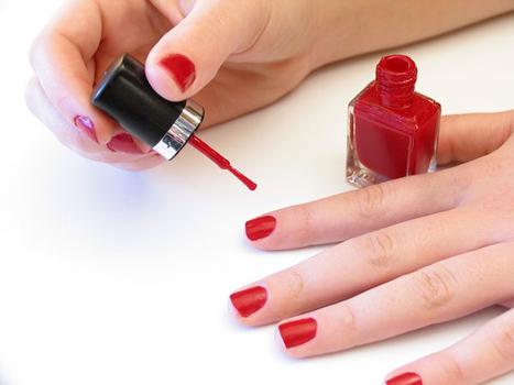 как красить короткие ногти