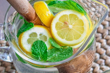 Напиток из мяты и лимона для похудения