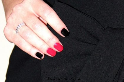 ногти в два цвета фото 2