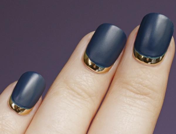 ногти в два цвета фото 5