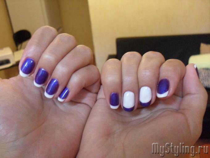 ногти в два цвета фото 9