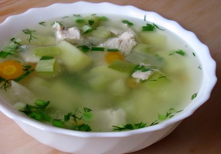 суп из кабачков с куриной грудкой