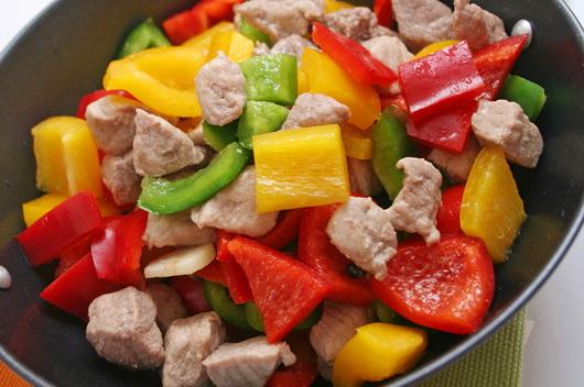 Белое мясо и овощи