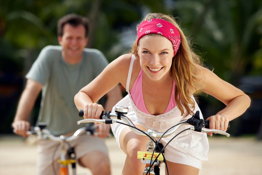 Езда на велосипеде укрепляет мышцы рук