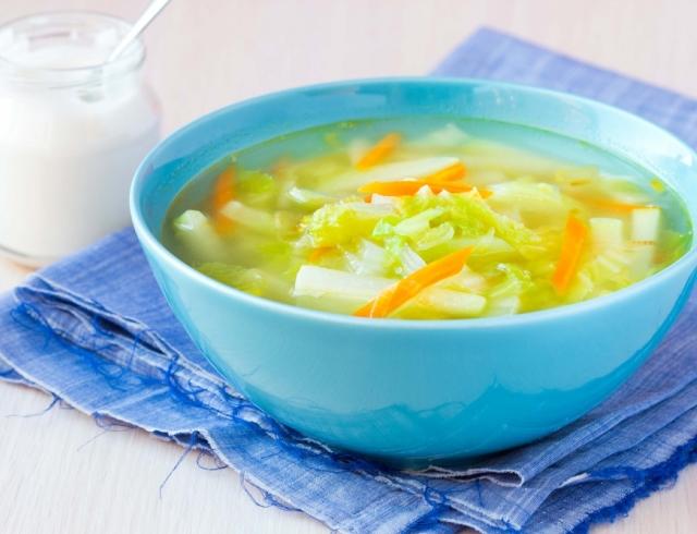 Куриный суп с кольраби