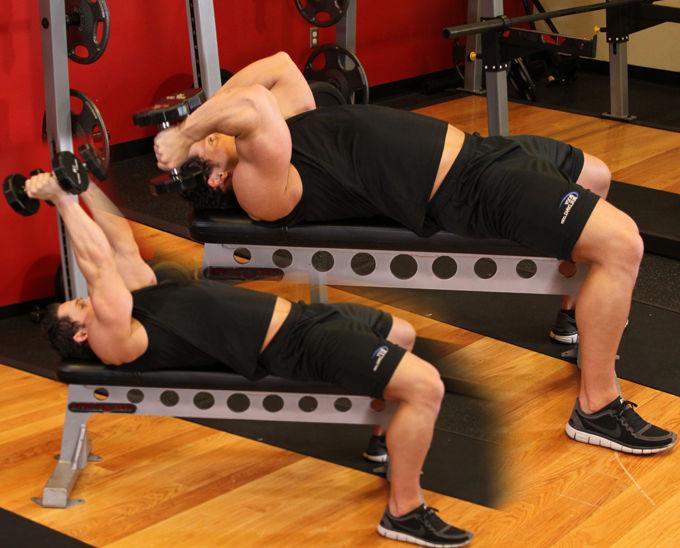 Упражнения на трицепс на скамье