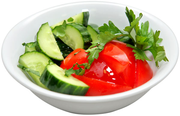 Диета на огурцах и помидорах