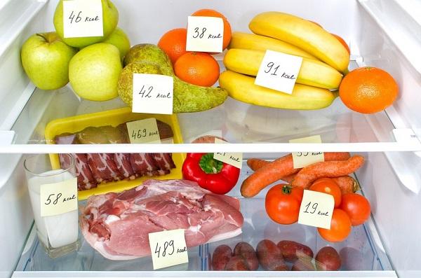 Расчет калорий продуктов