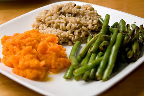 Гречневая крупа и овощи при аллергии