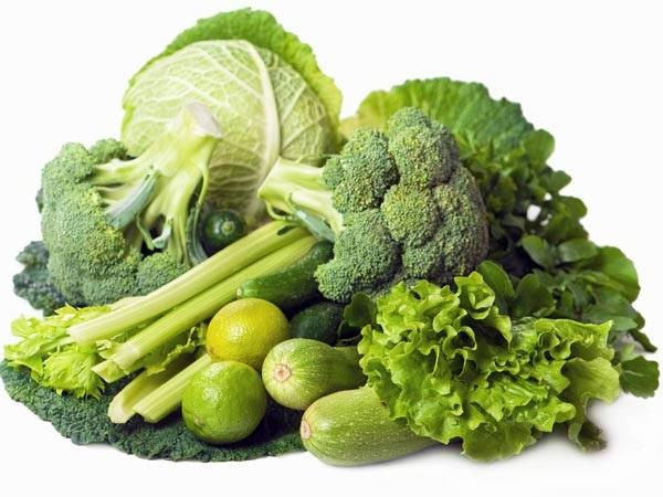 Овощи зеленых оттенков