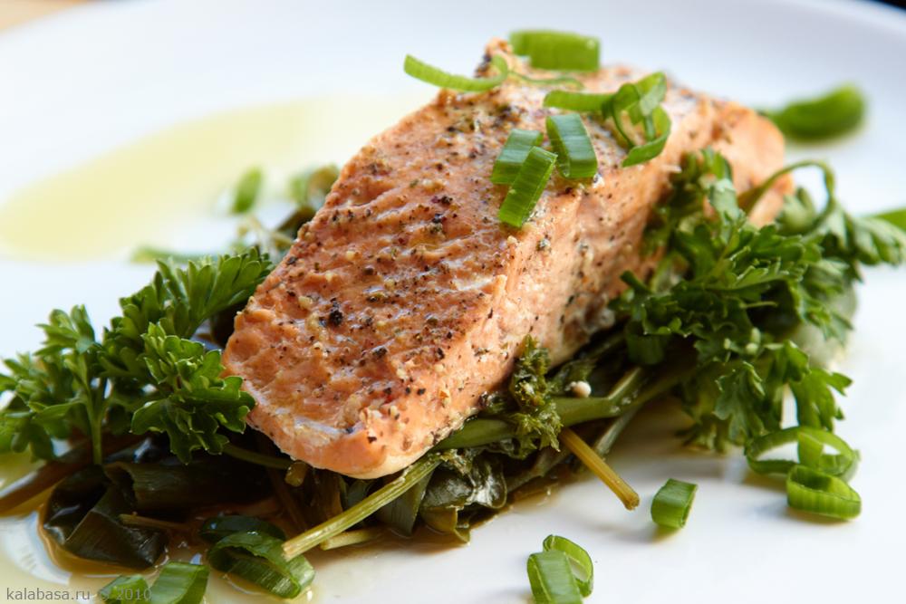 Рыба и зелень при повышенном сахаре в крови
