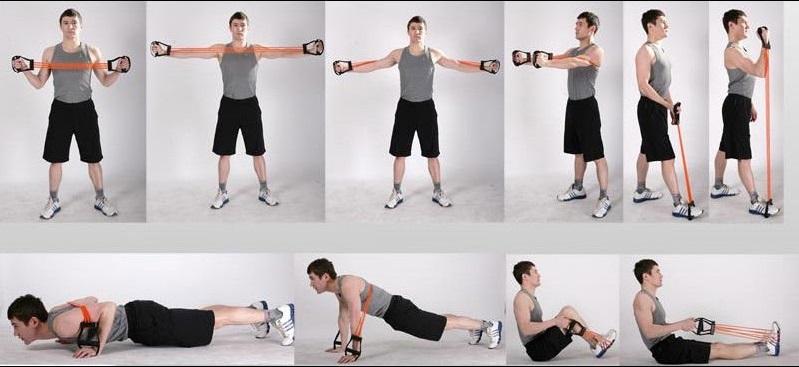 Упражнения с резинкой в домашних условиях для мужчин