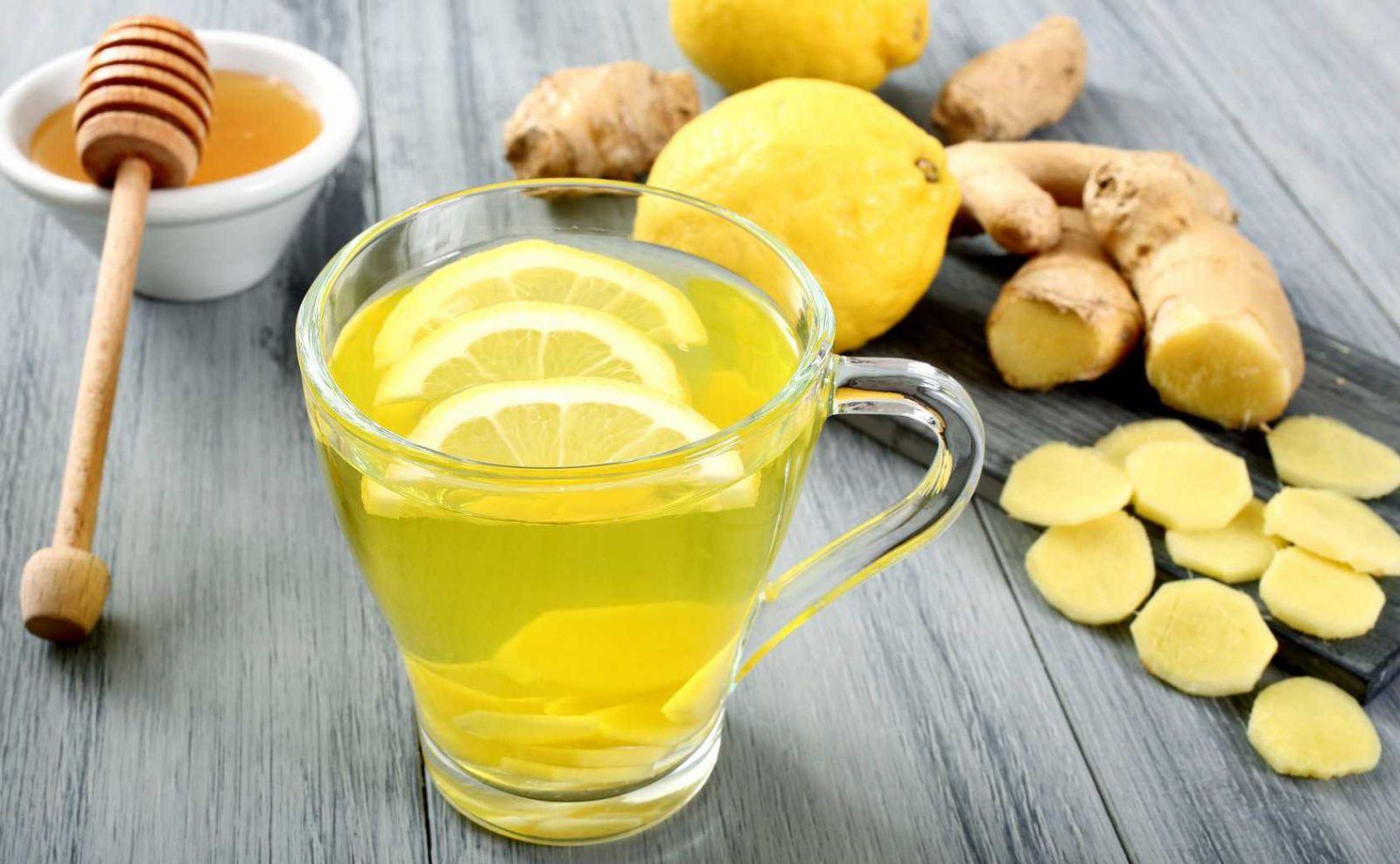 Вода с лимоном и имбирем для похудения