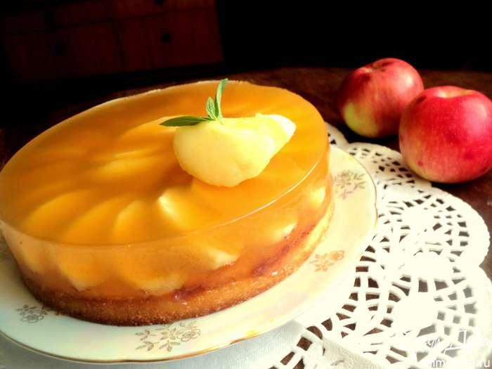 диетический яблочный торт