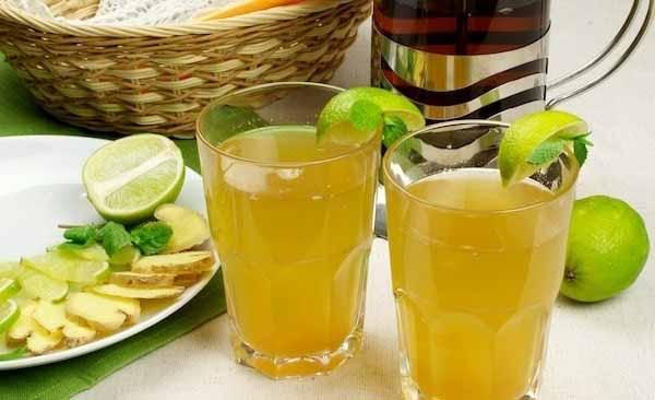 Зеленый чай с имбирем