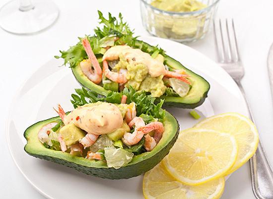 Морепродукты и авокадо