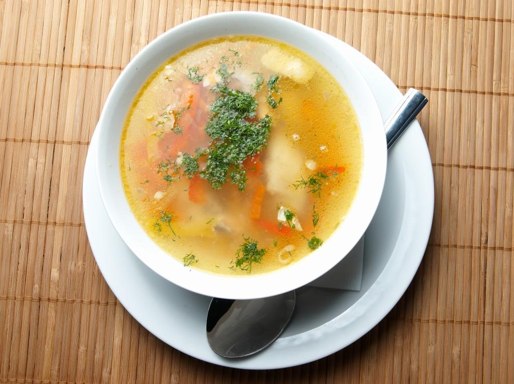 Суп с картофелем, капустой и мясом
