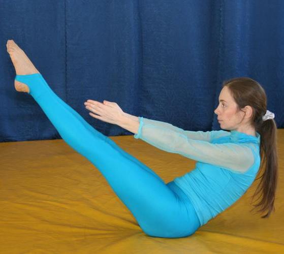 упражнение для пресса из йоги