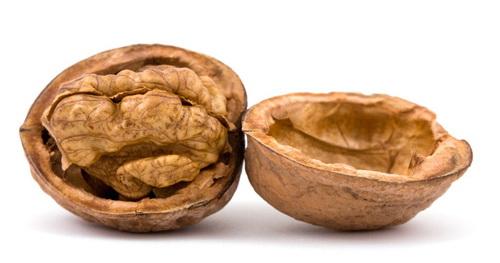 с помощью скорлупы грецкого ореха можно удалить волосы на руках