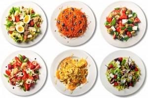 варианты салатов щетка