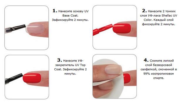 процедура нанесения шеллака пошагово