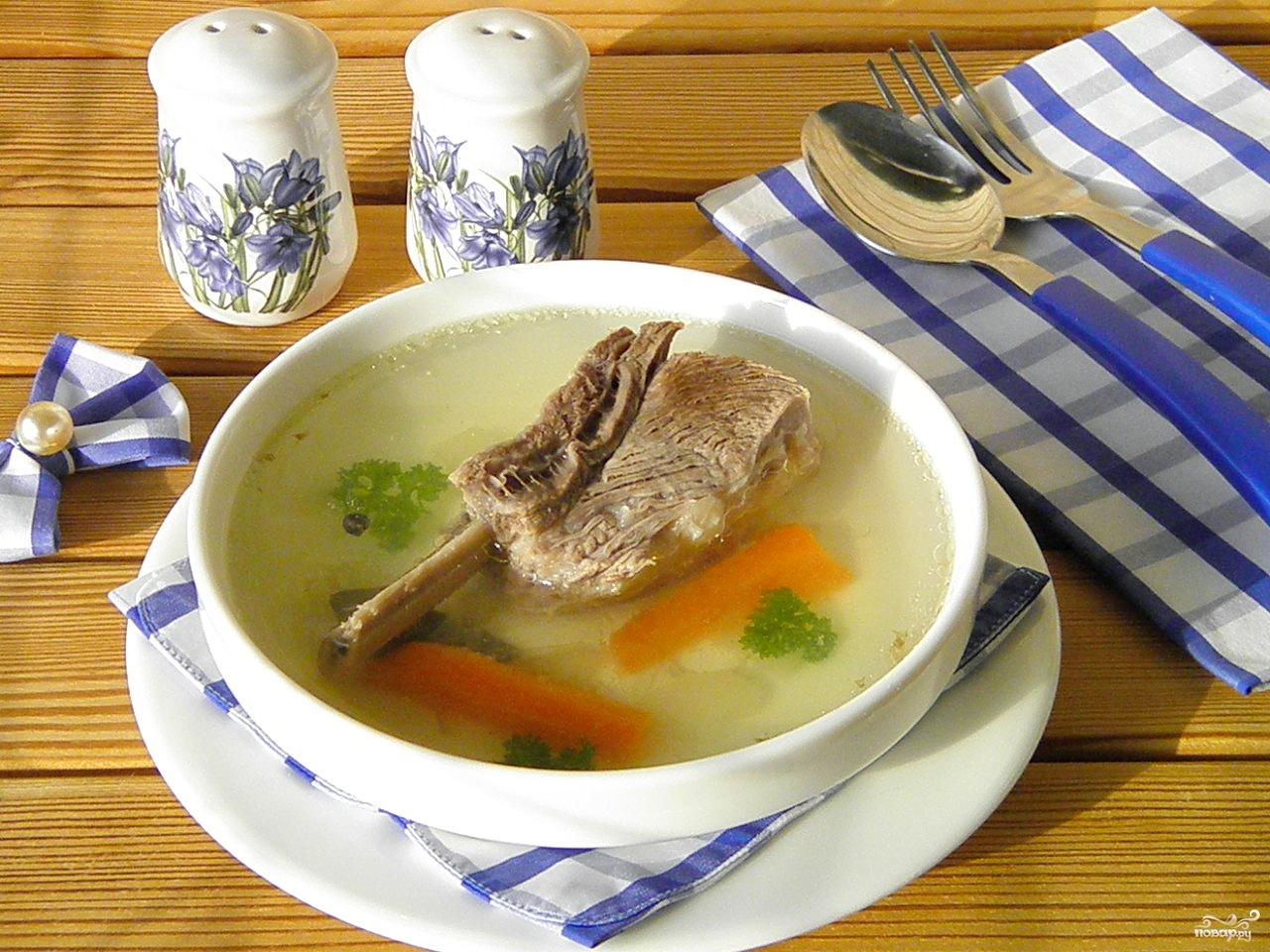 Нежирное мясо и бульон