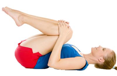 Упражнение от запора прижать колени к груди