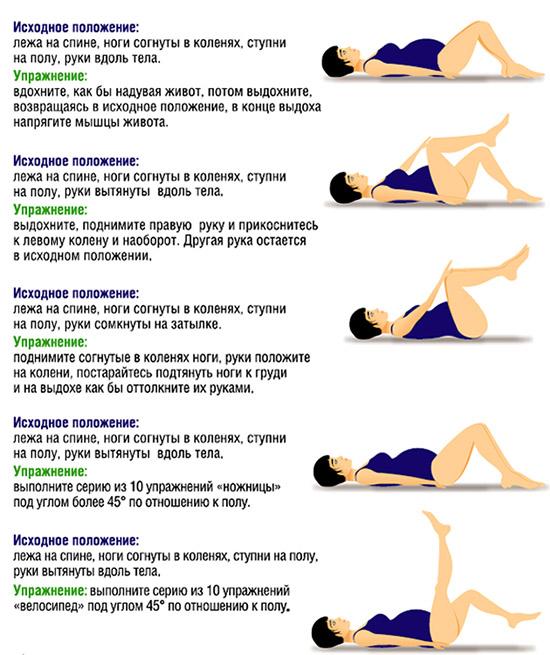 Комплекс упражнений от запоров для беременных