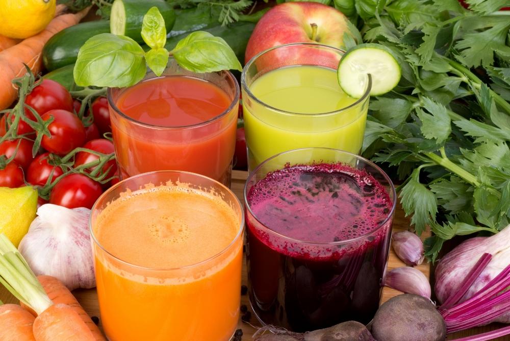 Свежевыжатые овощные соки