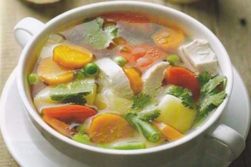 Овощной суп на постном мясе