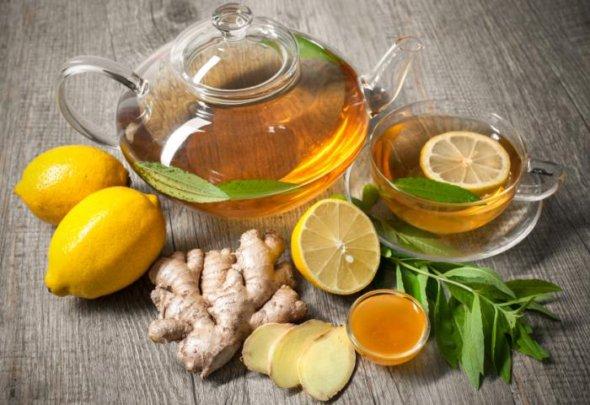 как приготовить напиток из имбиря размером в сливу лимон
