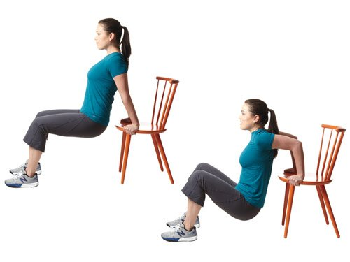 Отжимания от стула