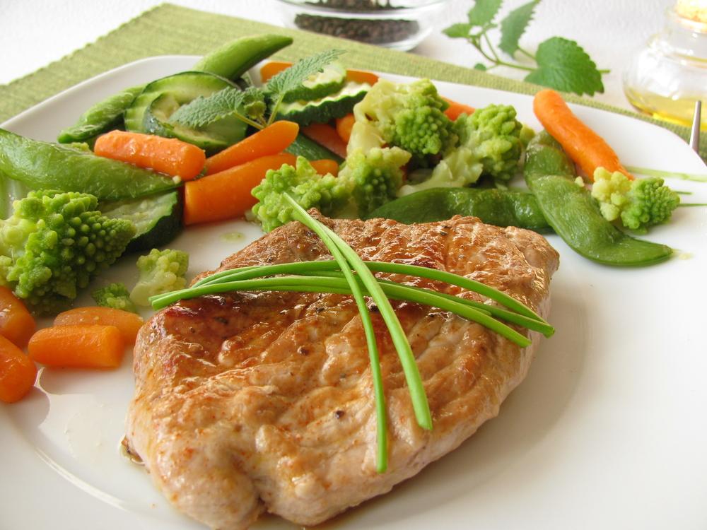 Мясо на пару с овощами