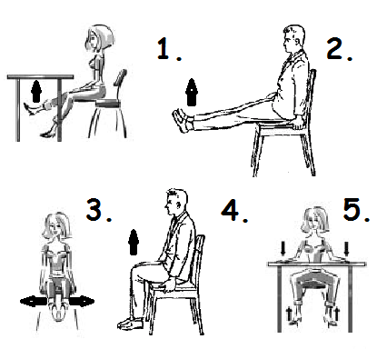 Упражнения на рабочем месте для похудения в области бедер и живота