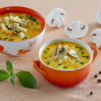 Суп с сыром и шампиньонами